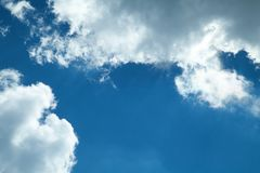 Beautiful view. Clouds and blue sky stock photo