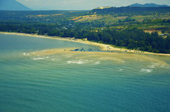 Beautiful view of coast from above Stock Photo