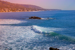 Beautiful view of the coast. Laguna beach coastal view, Los Angeles Stock Photography