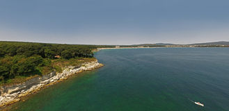 Beautiful view of the coastline of the Black Sea from Above Stock Photography
