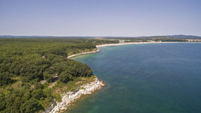 Beautiful view of the coastline of the Black Sea from Above Royalty Free Stock Photos