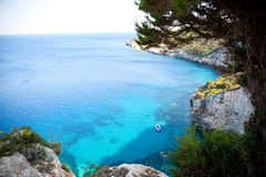 Beautiful view of coastline in Zakynthos Stock Photos