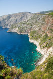 Beautiful view of coastline in Zakynthos Royalty Free Stock Images
