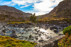 Beautiful view in Colca Canyon, Peru in South America Royalty Free Stock Image