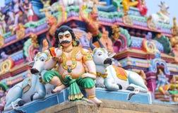 Beautiful view of colorful gopura in the Hindu Kapaleeshwarar Te Stock Image