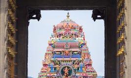 Beautiful view of colorful gopura in the Hindu Kapaleeshwarar Te Stock Images