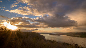 Beautiful view of the Columbia river at sunset Royalty Free Stock Photography