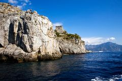 Beautiful view of the Costiera Amalfitana. Breathtaking view of the Costiera Amalfitana in Southern Italy Stock Images