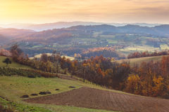 Beautiful view of countryside landscape in Serbia Royalty Free Stock Image