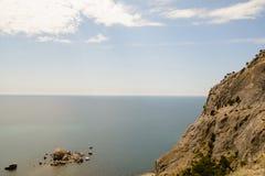 Beautiful view of the Crimean Black Sea coast stock photography