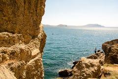 Beautiful view of the Crimean Black Sea coast stock photo