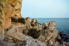 Beautiful view of the Crimean Black Sea coast royalty free stock photo