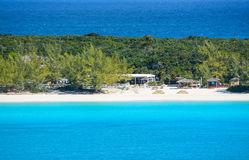 A beautiful view of Half Moon Cay from a Cruise Ship Royalty Free Stock Image
