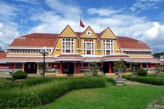 Beautiful view of Dalat Station, Vietnam Royalty Free Stock Image