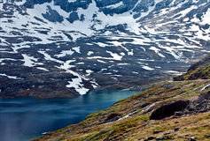 Beautiful view the Dalsnibba in Norway Royalty Free Stock Photo