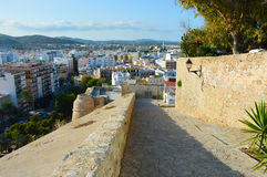 Beautiful view from Dalt Vila, Eivissa, Ibiza island Stock Photos
