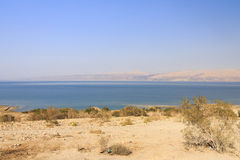 Beautiful view on the Dead sea beach Royalty Free Stock Photo