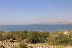 Beautiful view on the Dead sea beach Stock Photos
