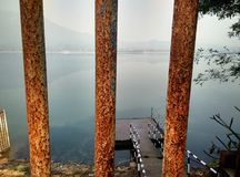Beautiful Dimna lake side view stock images