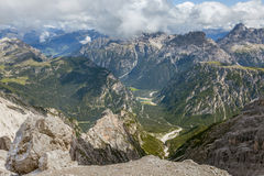 Beautiful view of the Dolomites in summer Royalty Free Stock Photo