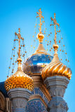A beautiful view of the domes of the Assumption Church, Saint-Pe Royalty Free Stock Images