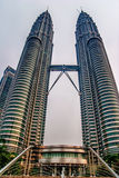 Beautiful view from down on Petronas Twin Towers Royalty Free Stock Image