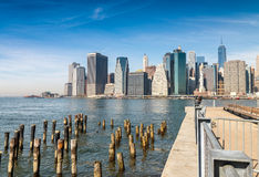 Beautiful view of Downtown buildings, New York City Stock Image