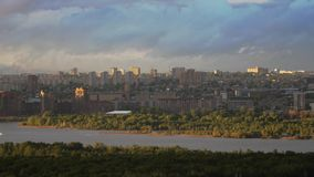 Beautiful view of downtown Novosibirsk. In Russia stock video