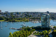 Beautiful view downtown of Vancouver. Beautiful view of Vancouver, British Columbia, Canada downtown Stock Images