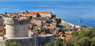 Beautiful view of Dubrovnik, Croatia Royalty Free Stock Images