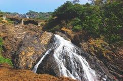 Beautiful view of the Dudhsagar waterfall in Goa stock photo