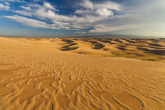 Beautiful view of the dunes of the Gobi Desert. Royalty Free Stock Photo