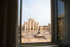 Beautiful view the Duomo cathedral, Milan, Italy Royalty Free Stock Photos