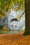 Beautiful view of Dying Lion Monument of Lucerne Royalty Free Stock Photography