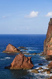 Beautiful view of Eastern Madeira coast Royalty Free Stock Image