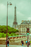 Beautiful view of the Eiffel Tower from Les Royalty Free Stock Images