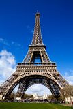 Beautiful view of The Eiffel Tower in Paris. Classical beautiful view of The Eiffel Tower in Paris on a sunny day Stock Photo