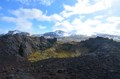 Beautiful View from Eldborg Crater on Snaefellsnes Peninsula in Stock Photo
