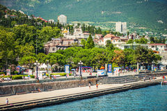 Beautiful view on embankment of Yalta Stock Photography