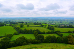 Beautiful view at emerald green fields, England Stock Photo