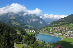 Beautiful view of Engelberg Stock Photography