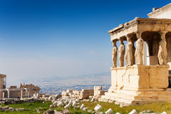 Beautiful view of Erechtheion in Athens, Greece Stock Photos