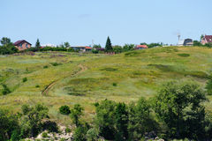 Beautiful view on Ermakovo`s village in Samara region Stock Photo