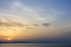 Beautiful view on evening sky above sea Royalty Free Stock Photography
