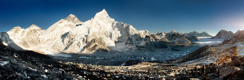 View of Everest and Nuptse from Kala Patthar Stock Photography