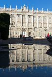Beautiful view of the facade of the Royal Palace of Madrid, Spain Royalty Free Stock Photography