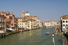 Beautiful view of famous Canal Grande in Venice, Italy Stock Images