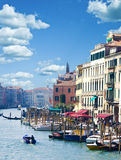 Beautiful view of famous Canal Grande in Venice, Italy Royalty Free Stock Image
