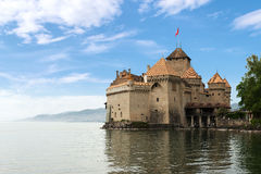 Beautiful view of famous Chateau de Chillon at Lake Geneva, one Royalty Free Stock Photography