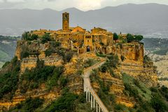 Beautiful view of famous Civita di Bagnoregio Royalty Free Stock Photography